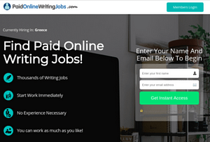 Writing Jobs Online Review, Health Support Hub