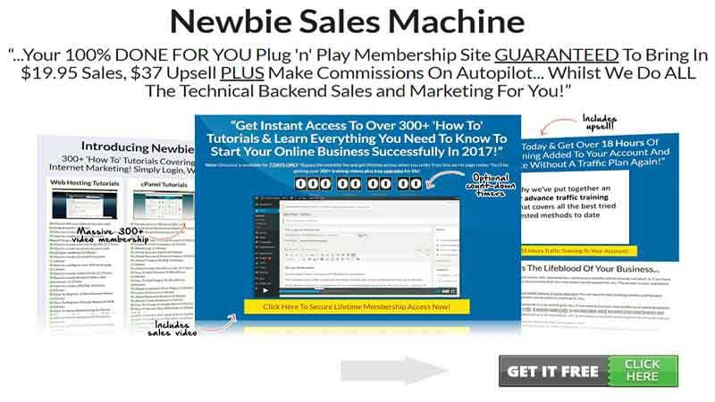 Newbie Sales Machine Review, Health Support Hub