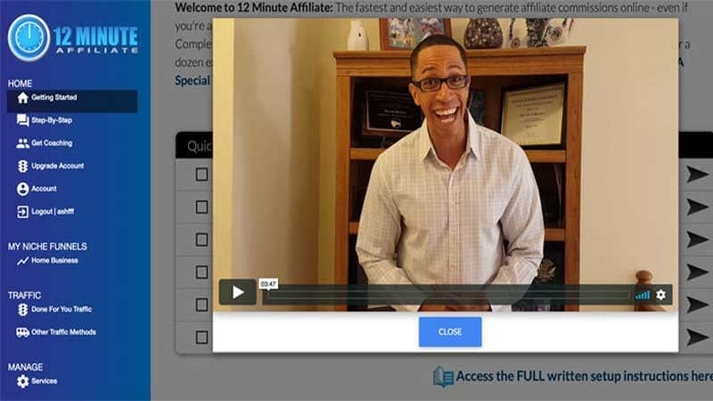 12 Minute Affiliate Review, Health Support Hub